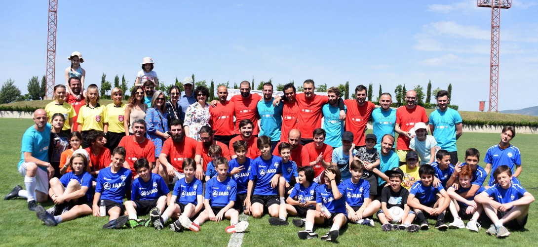 Saguramo base hosts an interesting event and a friendly match