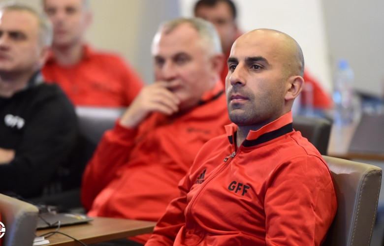 A Head Coach of Locomotive attending PRO Licence Course