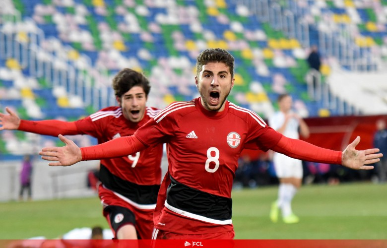 A goal by Zuriko Davitashvili in U19 team of Georgia