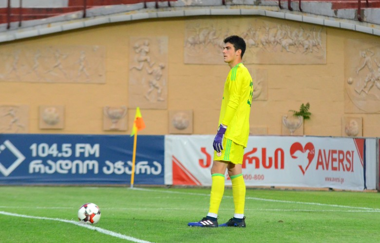 Luka Sherozia's debut match in U21 team