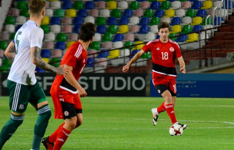 Tornike Dzebniauri's debut match in U21 team